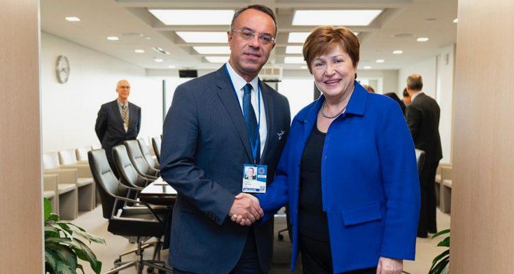 Συνάντηση Σταϊκούρα με τη νέα επικεφαλής του ΔΝΤ