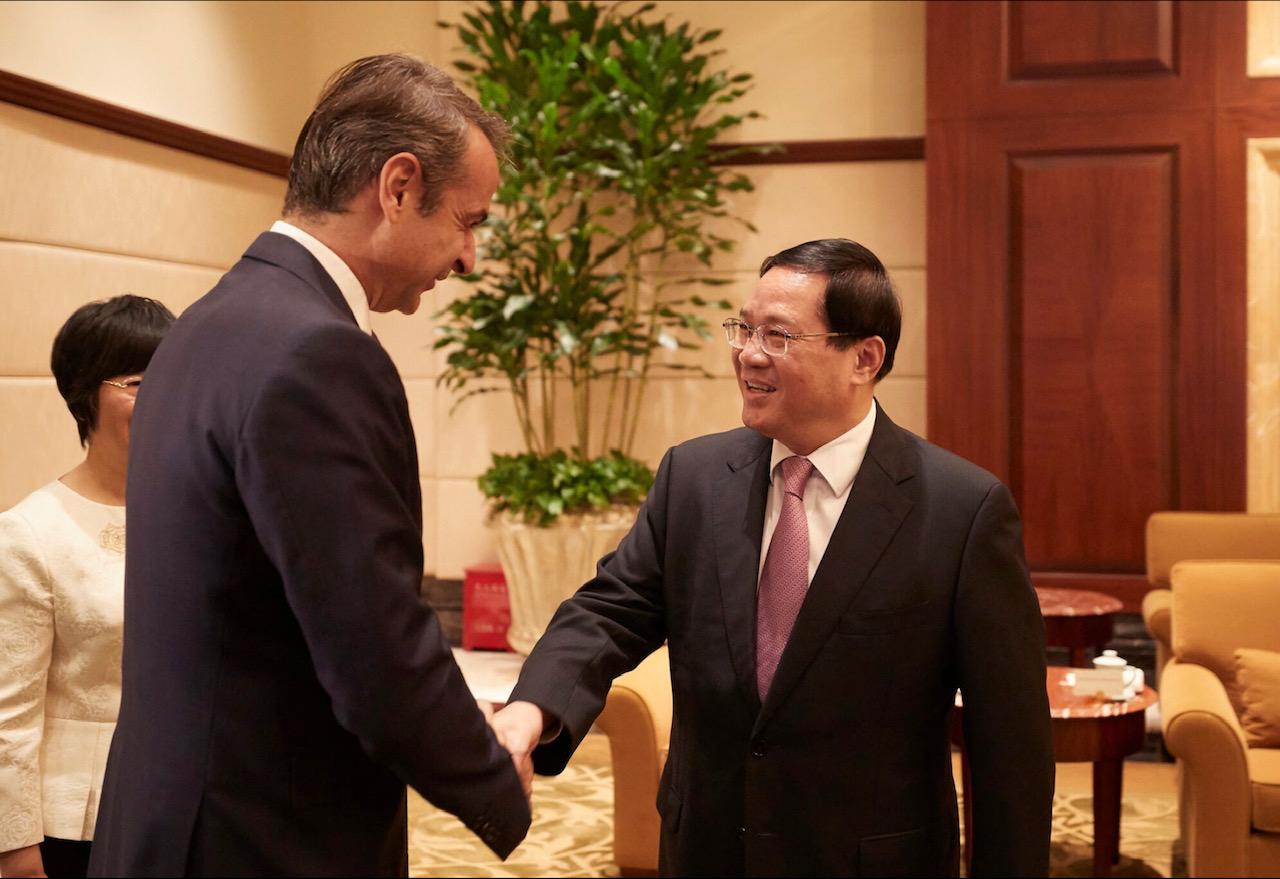 Συνάντηση πρωθυπουργού με γενικό γραμματέα Σαγκάης του Κομμουνιστικού Κόμματος Κίνας