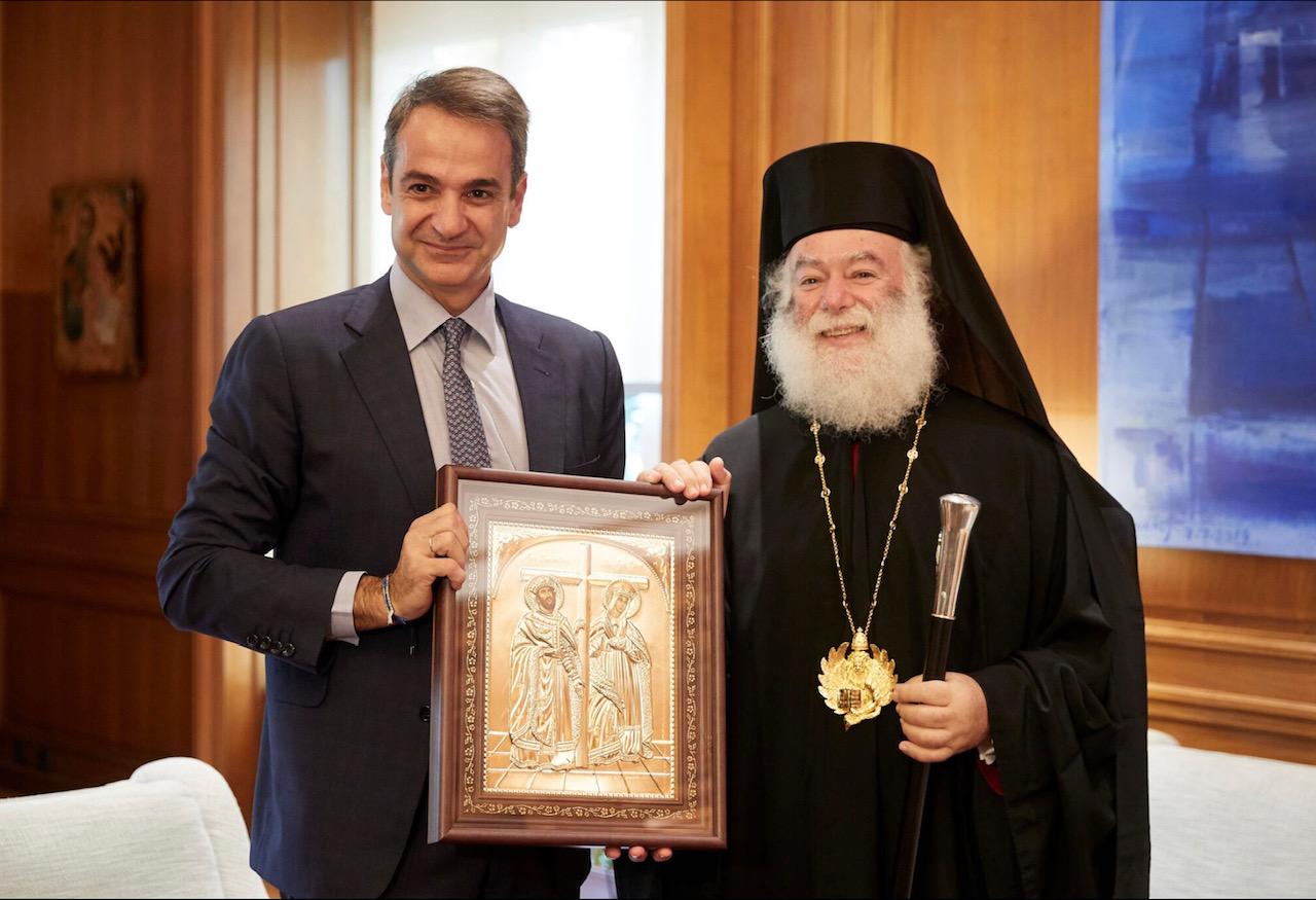 Με τον Πατριάρχη Αλεξανδρείας συναντήθηκε ο Κυριάκος Μητσοτάκης