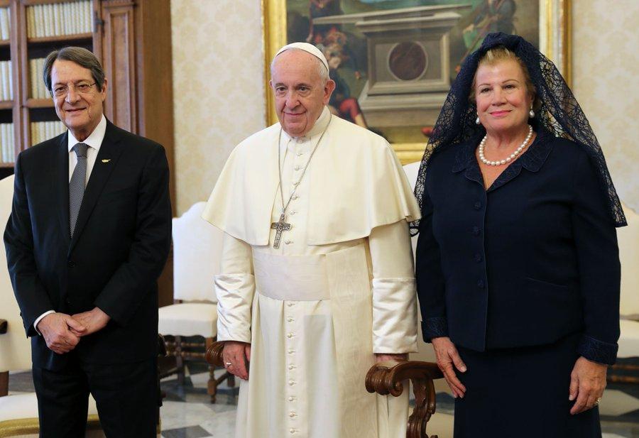 Με τον Πάπα Φραγκίσκο συναντήθηκε ο Νίκος Αναστασιάδης στο Βατικανό