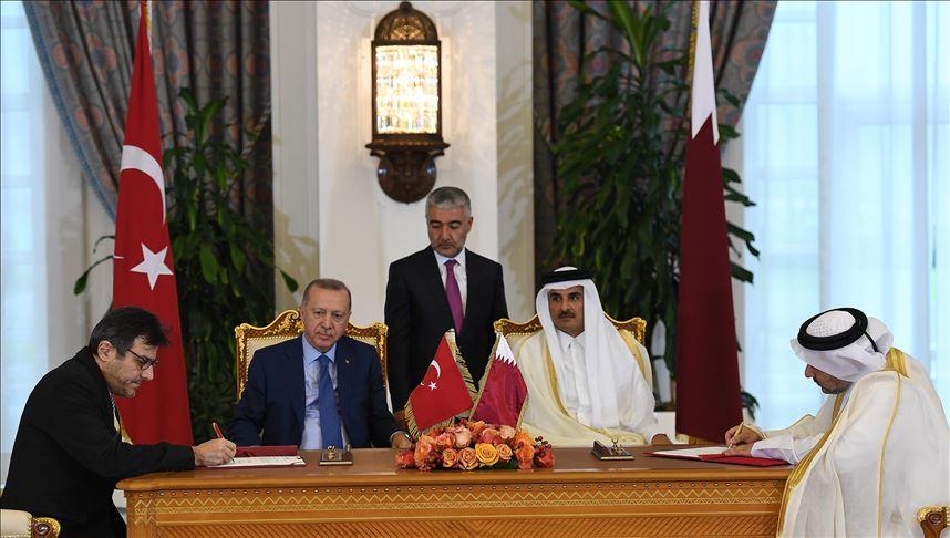 Το Κατάρ επισκέφθηκε ο Erdogan όπου υπέγραψε 7 συμφωνίες συνεργασίας