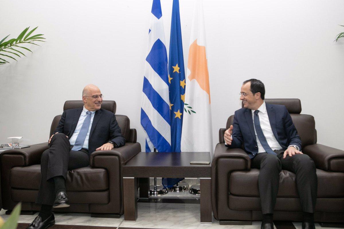 Τον πλήρη συντονισμό Ελλάδας και Κύπρου δήλωσαν Χριστοδουλίδης-Δένδιας
