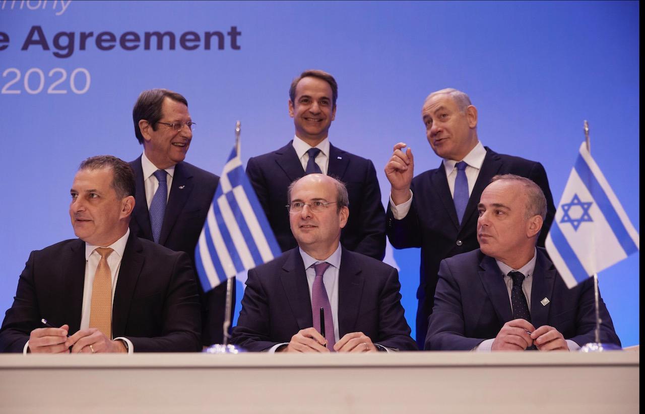 Την υπογραφή του EastMed χαιρετίζει ο ΣΥΡΙΖΑ