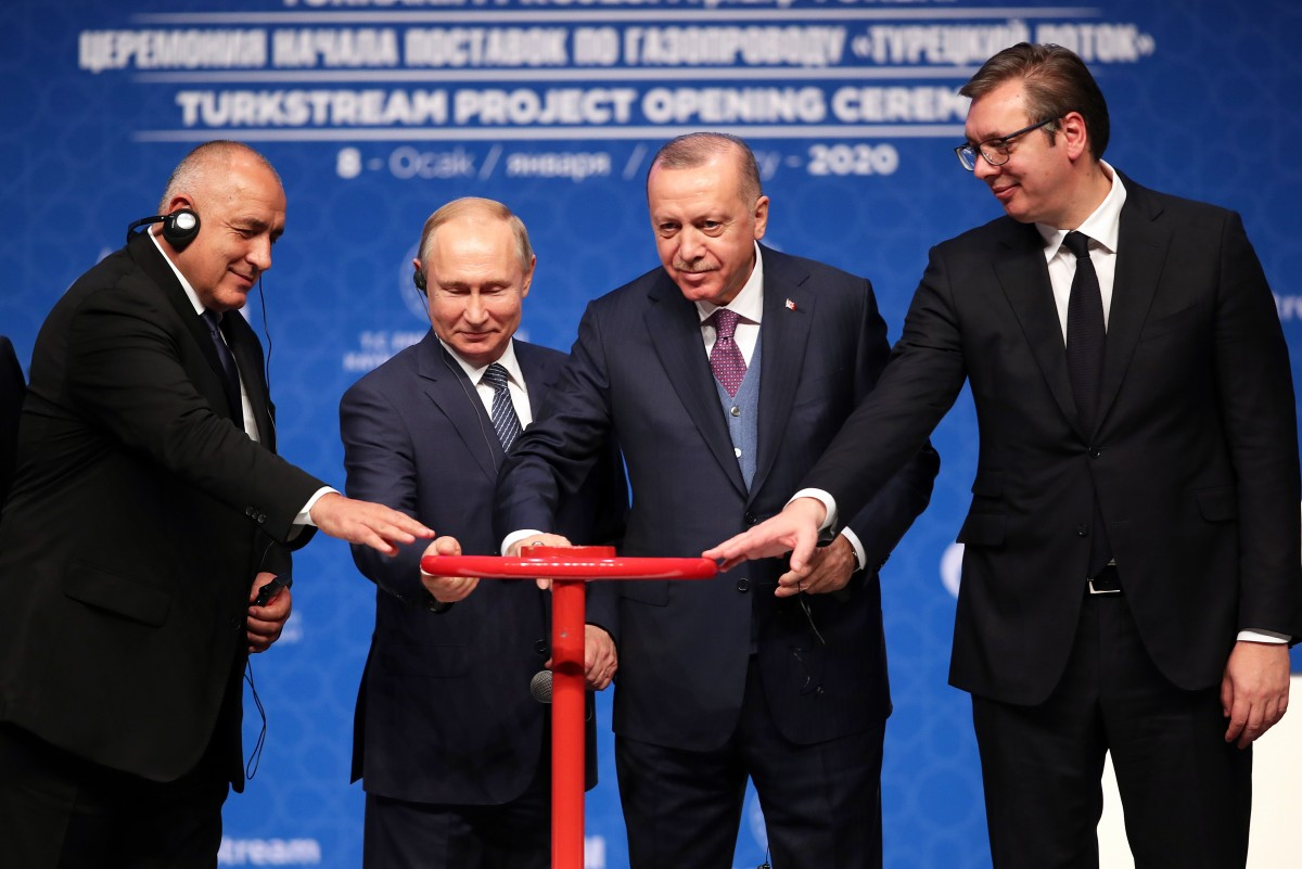 Εγκαινιάστηκε ο TurkStream από Erdogan Putin Vucic και Borissov