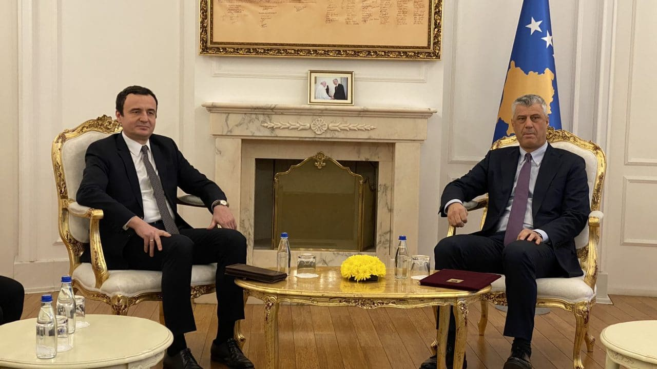 Ο πρόεδρος του Κοσσυφοπεδίου κάλεσε τον Albin Kurti να επιταχύνει τις διαδικασίες για το σχηματισμό κυβέρνησης