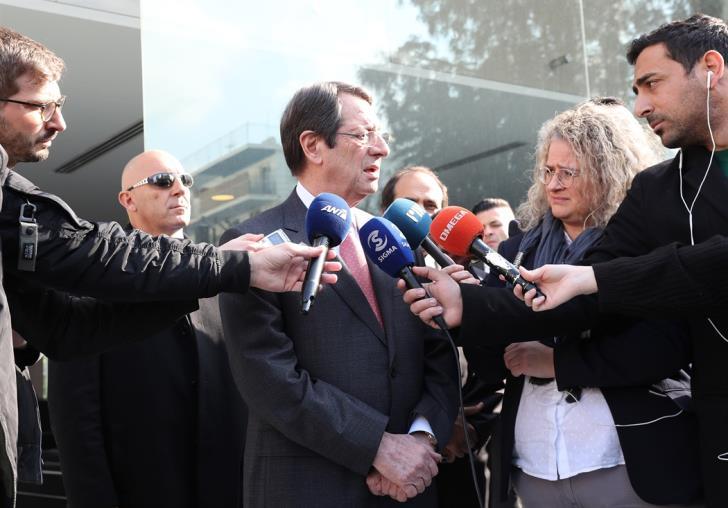 Αναστασιάδης: Καταβάλουμε προσπάθειες επικράτησης του Διεθνούς Δικαίου