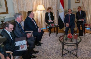 Την ανησυχία του για τη συμμετοχή ξένων δυνάμεων στη Λιβύη εξέφρασε ο Pompeo