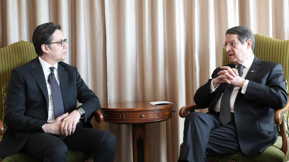 Με τον Πρόεδρο της Βορείου Μακεδονίας συναντήθηκε ο Νίκος Αναστασιάδης