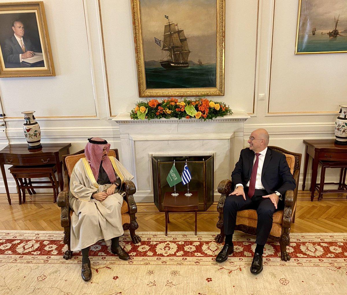 Δένδιας: Ιδιαίτερη δυναμική έχουν αποκτήσεις οι σχέσεις Ελλάδας-Σαουδικής Αραβίας
