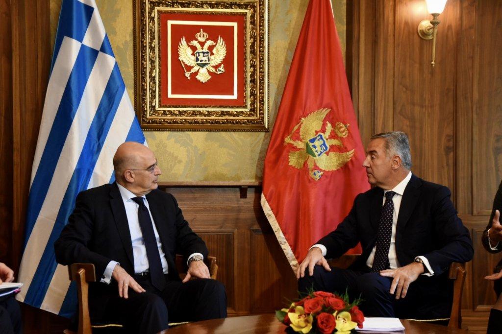 Δένδιας: Η Ελλάδα υποστηρίζει σθεναρά τη διαδικασία ενσωμάτωσης του Μαυροβουνίου στην ΕΕ