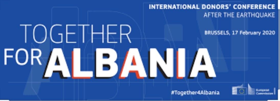 ΕΕ: «Μαζί για την Αλβανία». Διεθνής Διάσκεψη Δωρητών για την Ανασυγκρότηση της Αλβανίας