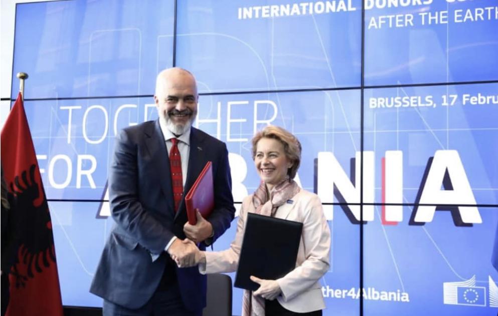 Αλβανία: 1,15 δισ. ευρώ συγκεντρώθηκαν στη Διεθνή Διάσκεψη Δωρητών για την Ανασυγκρότηση της ΕΕ
