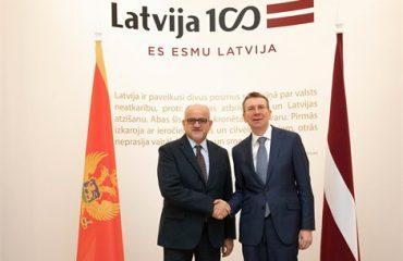 Μαυροβούνιο: Επίσημη επίσκεψη του Υπουργού Εσωτερικών στη Λετονία