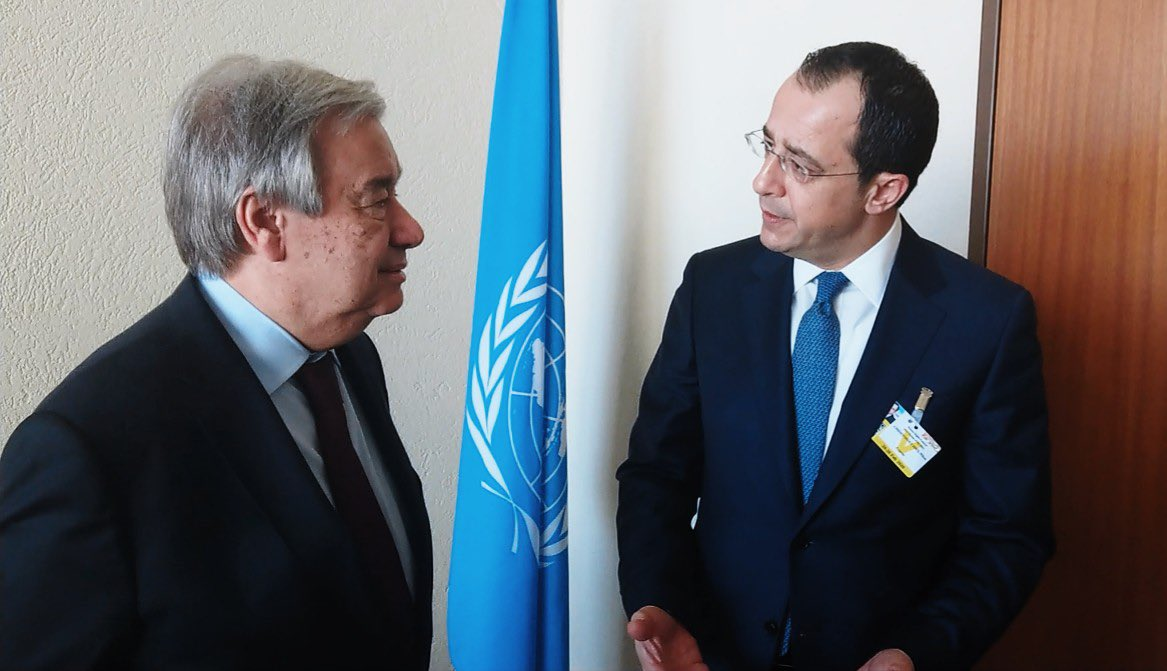 Κύπρος: Συνάντηση Χριστοδουλίδη Guterres στη Γενεύη