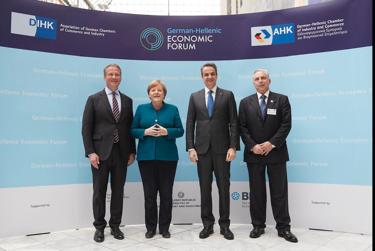Ελλάδα: Συζήτηση εφ' όλης της ύλης είχαν Merkel-Μητσοτάκης