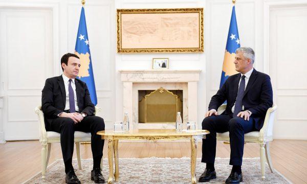 Κοσσυφοπέδιο: Συνάντηση Thaci-Kurti για θέματα εθνικού ενδιαφέροντος