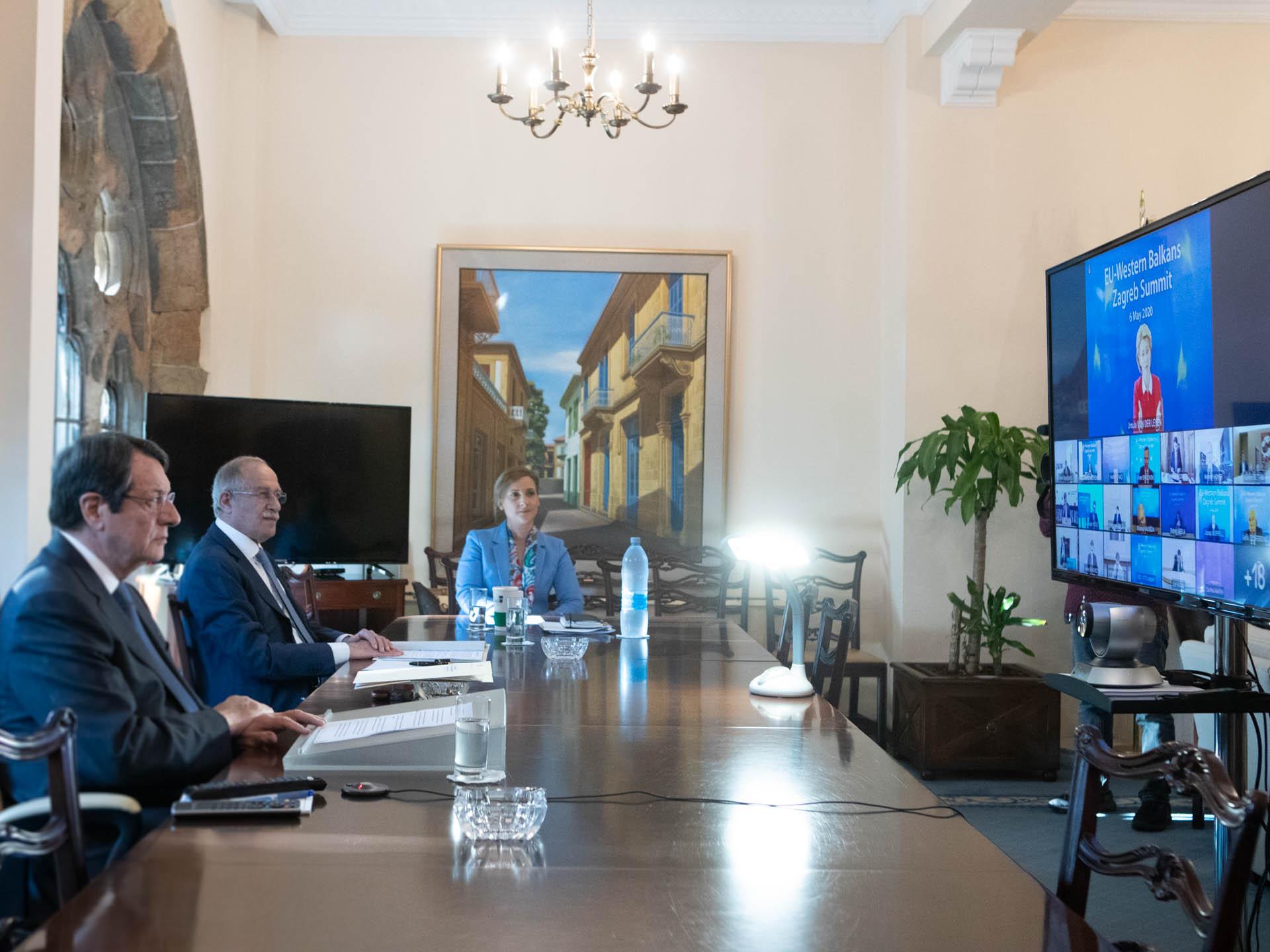 Κύπρος: Στην τηλεδιάσκεψη της Συνόδου ΕΕ-Δυτικών Βαλκανίων συμμετείχε ο Αναστασιάδης