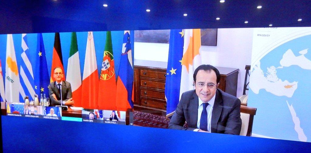 Κύπρος: Τηλεδιάσκεψη Χριστοδουλίδη Maas