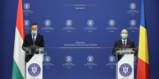 Ρουμανία: Τον Ούγγρο ΥΠΕΞ υποδέχτηκε ο Aurescu στο Βουκουρέστι