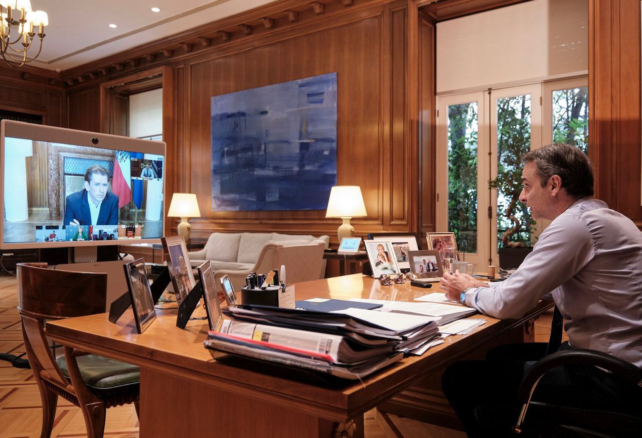 Ελλάδα: Στην 3η τηλεδιάσκεψη Smart Covid-19 Management Group συμμετείχε ο Έλληνας Πρωθυπουργός