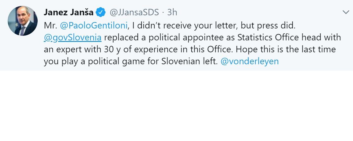 Σλοβενία: Σκληρή απάντηση του πρωθυπουργού της Σλοβενίας στον Επίτροπο της ΕΕ
