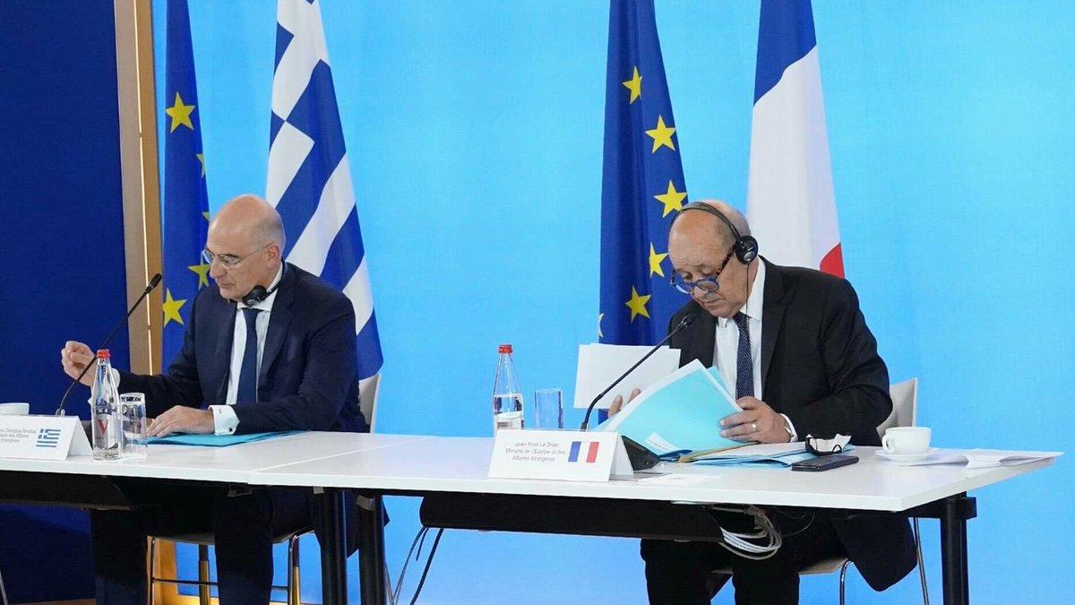 Ελλάδα: Το θέμα των τουρκικών προκλήσεων έθεσε ο Έλληνας ΥΠΕΞ στη Γαλλία