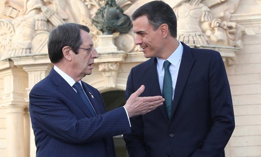 Κύπρος: Τηλεφωνική επικοινωνία Αναστασιάδη με τον Ισπανό Πρωθυπουργό