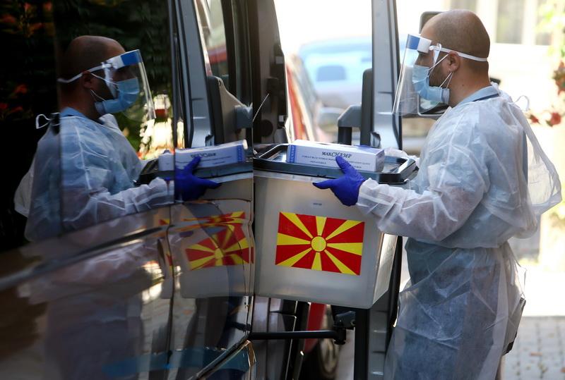 Βόρεια Μακεδονία: Έκλεισαν οι κάλπες της πρώτης μέρας της τριήμερης ψηφοφορίας