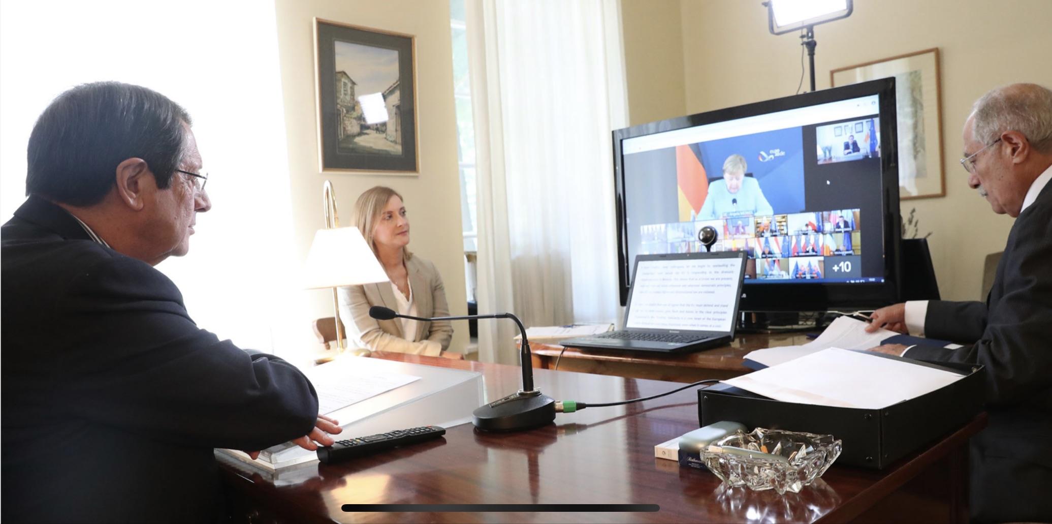 ΕΕ: Παρεμβάσεις για την Τουρκία πραγματοποίησαν Αναστασιάδης Μητσοτάκης στην Έκτακτη Σύνοδο του ΕΣ