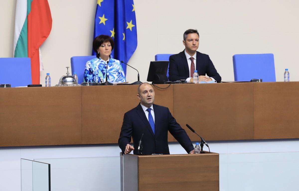 Βουλγαρία: Την παραίτηση της Κυβέρνησης ζήτησε ο Radev από το βήμα της Βουλής