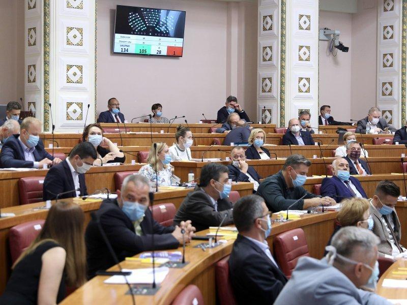Κροατία: Η φθινοπωρινή κοινοβουλευτική περίοδος ξεκίνησε με συζήτηση για το νομοσχέδιο ανασυγκρότησης του Ζάγκρεμπ