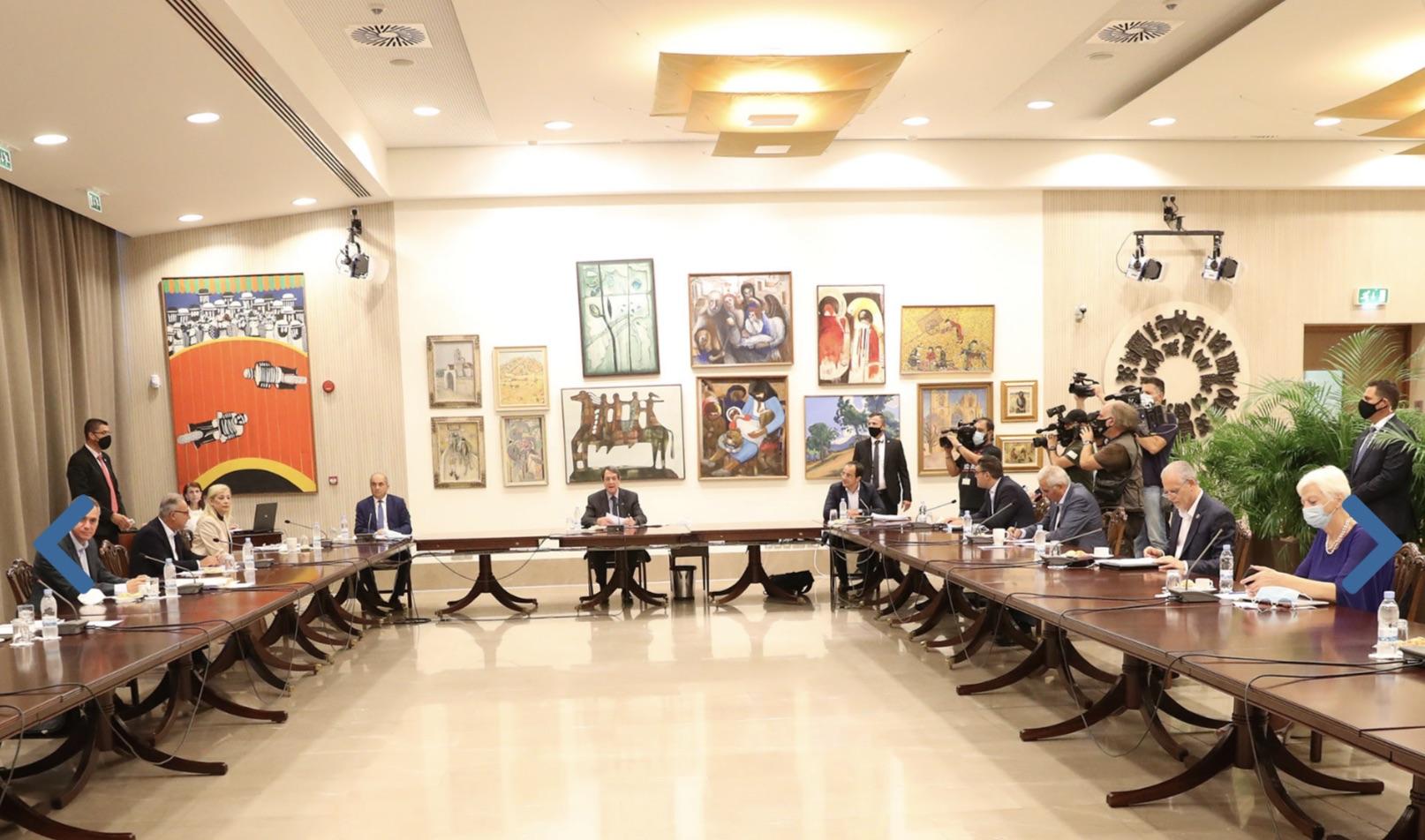 Κύπρος: Συνεδρίασε το Συμβούλιο Πολιτικών Αρχηγών