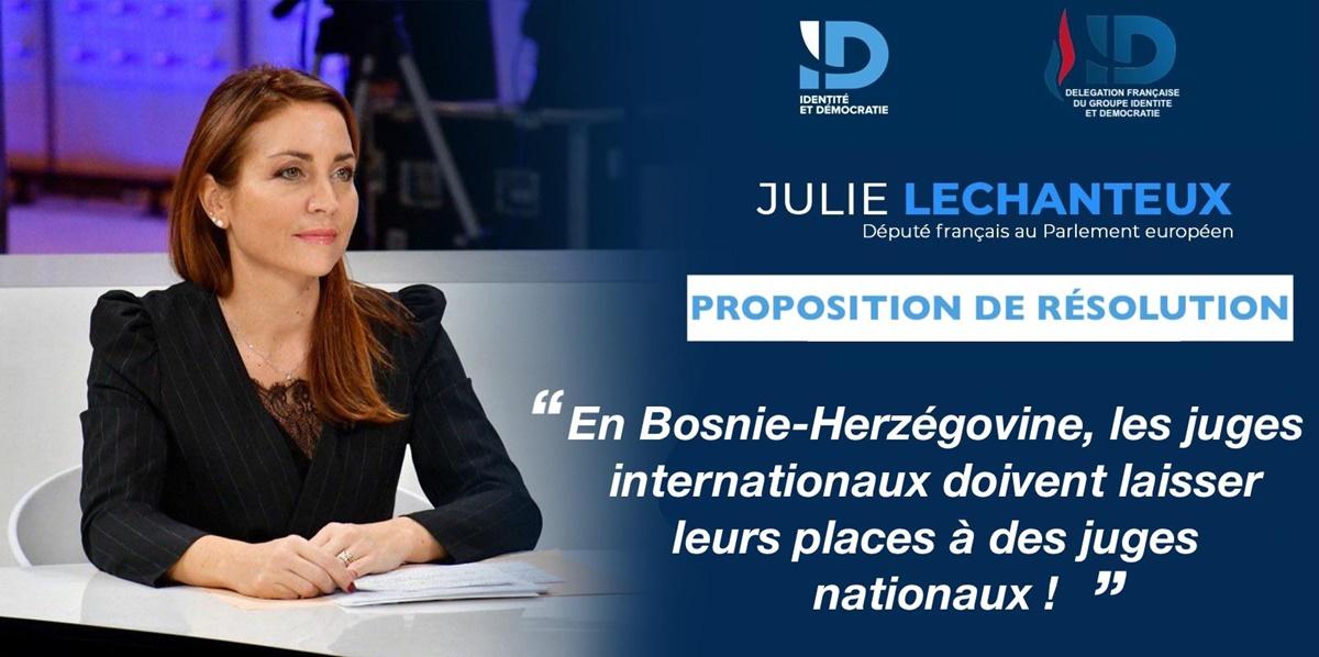 «Στη Βοσνία και Ερζεγοβίνη, οι διεθνείς δικαστές πρέπει να παραδώσουν τη θέση τους σε εθνικούς δικαστές!», λέει Γαλλίδα ευροβουλευτής