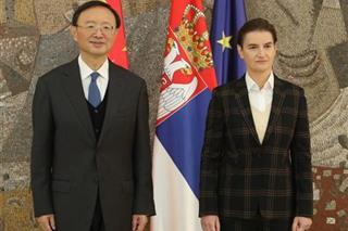 Brnabic: Η Σερβία θα συνεχίσει τη στρατηγική της συνεργασία με την Κίνα