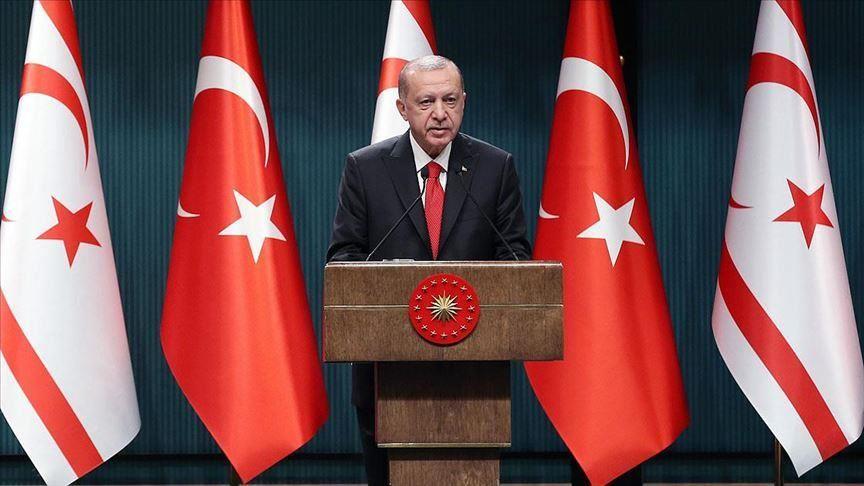 Erdogan: Η Τουρκία τάσσεται υπέρ μιας δίκαιης, μόνιμης και βιώσιμης λύσης στην Κύπρο