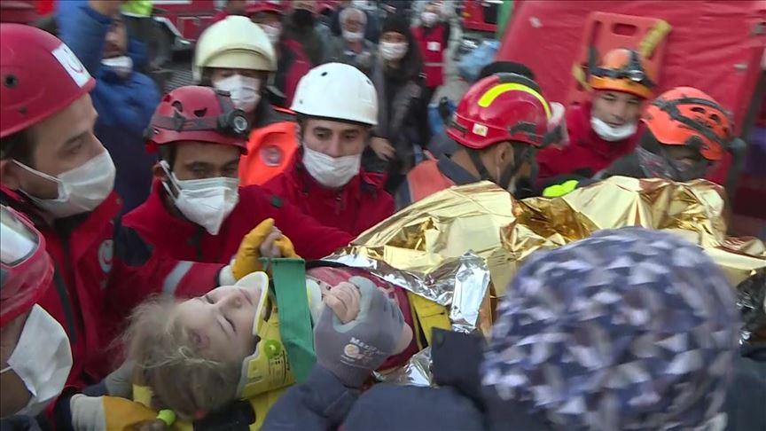Τουρκία: Μετά από 65 ώρες ανασύρθηκε ζωντανό 3χρονο κορίτσι. 79 οι νεκροί από τον σεισμό 6,7 ρίχτερ