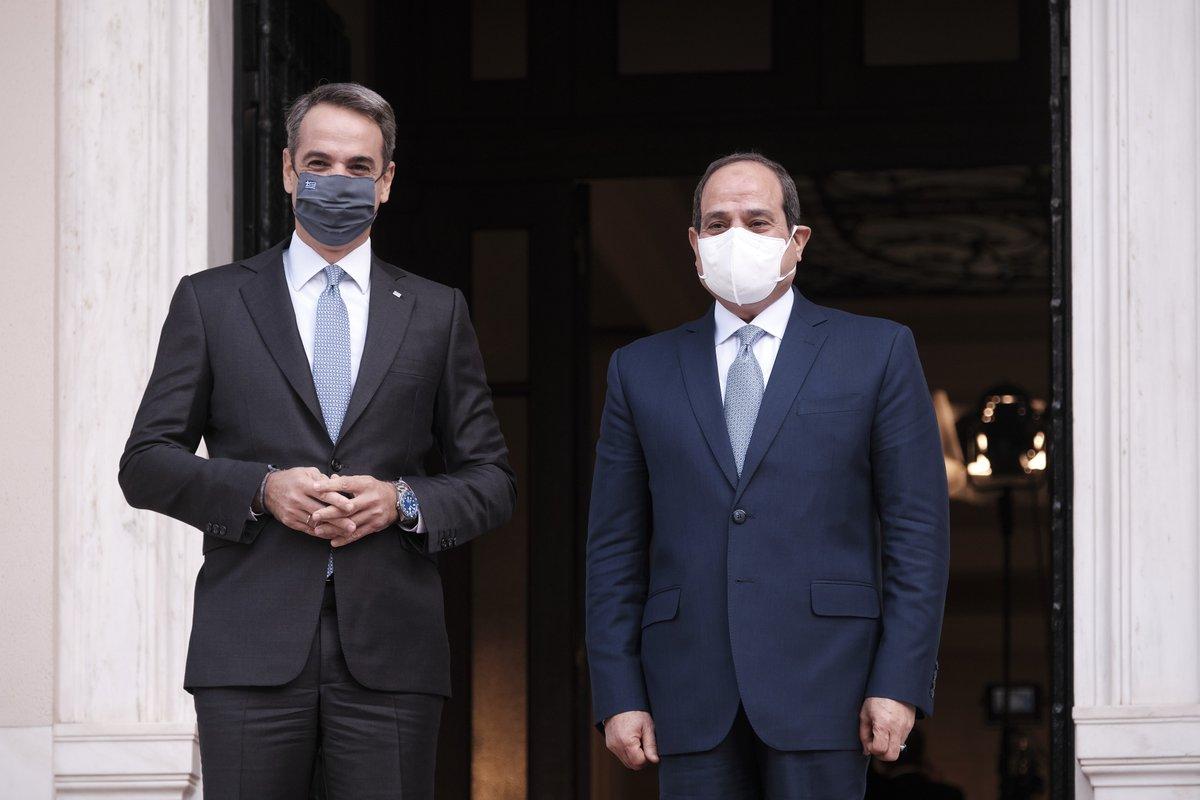 Ελλάδα: Εμβάθυνση των διμερών σχέσεων συζήτησαν Μητσοτάκης El-Sisi