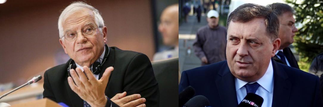 Β-Ε: Ο Borrell δεν φαίνεται να γνωρίζει την Ειρηνευτική Συμφωνία του Dayton, ισχυρίζεται ο Dodik