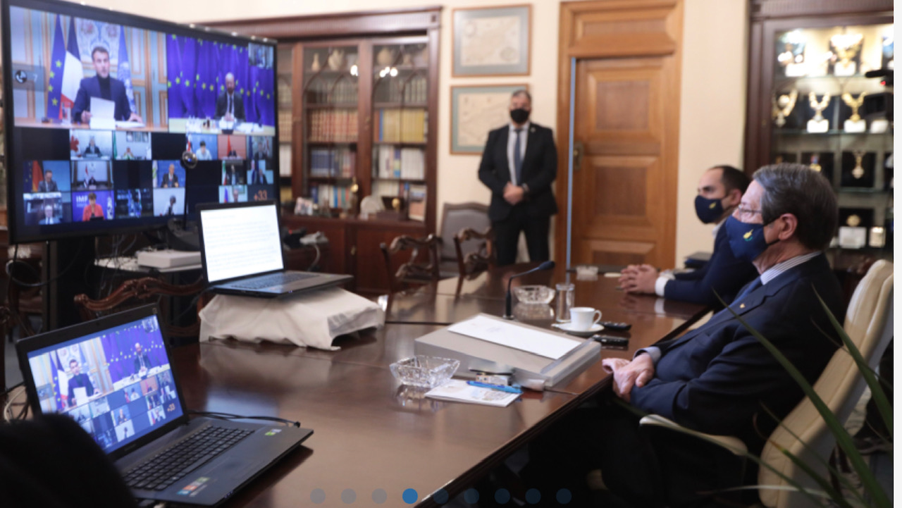 Κύπρος: Σε τηλεδιάσκεψη για υποστήριξη στο λαό του Λιβάνου συμμετείχε ο Αναστασιάδης