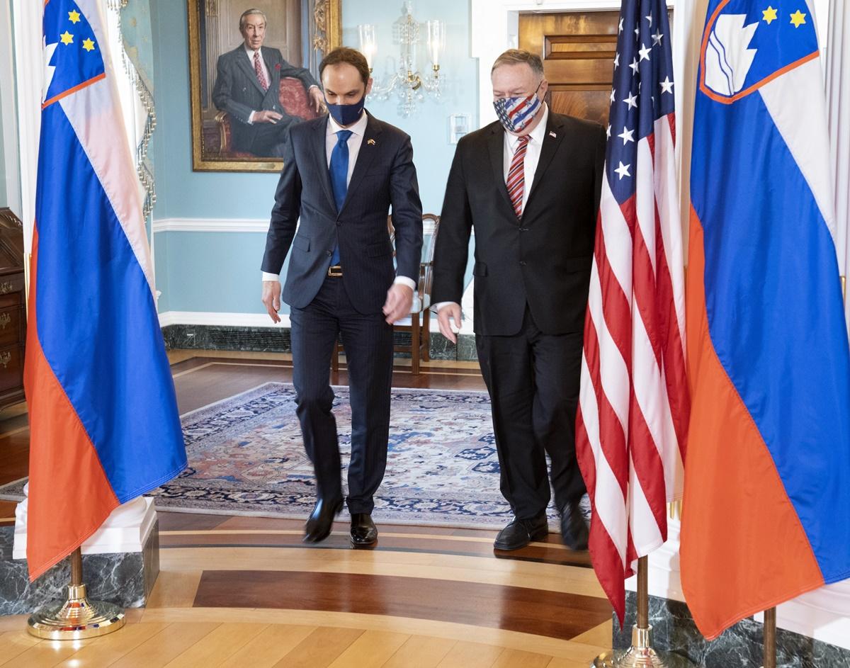 Σλοβενία: Συνάντηση του Υπουργού Εξωτερικών Logar με τον Αμερικανό ομόλογο Mike Pompeo