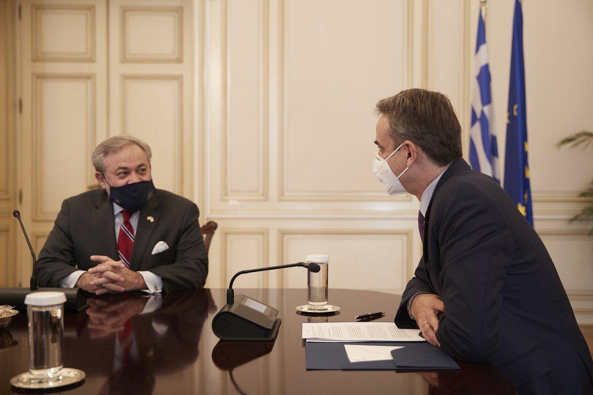Ελλάδα: Τον Υπουργό Ενέργειας των ΗΠΑ συνάντησε ο Μητσοτάκης
