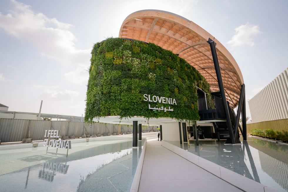 Σλοβενία: Επίσκεψη του Υπουργoύ Počivalšek στο περίπτερο της Σλοβενίας στο Expo 2020