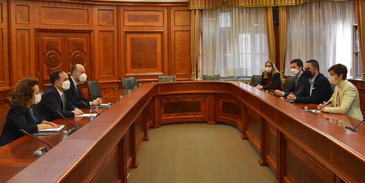 Σερβία: Συνάντηση Brnabić με τον απερχόμενο Τούρκο Πρέσβη στο Βελιγράδι Bilgic