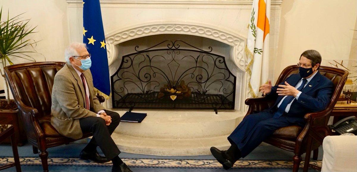 Κύπρος: Την στήριξη της ΕΕ στις προσπάθειες επίλυσης του Κυπριακού, επιβεβαίωσε ο Borrell