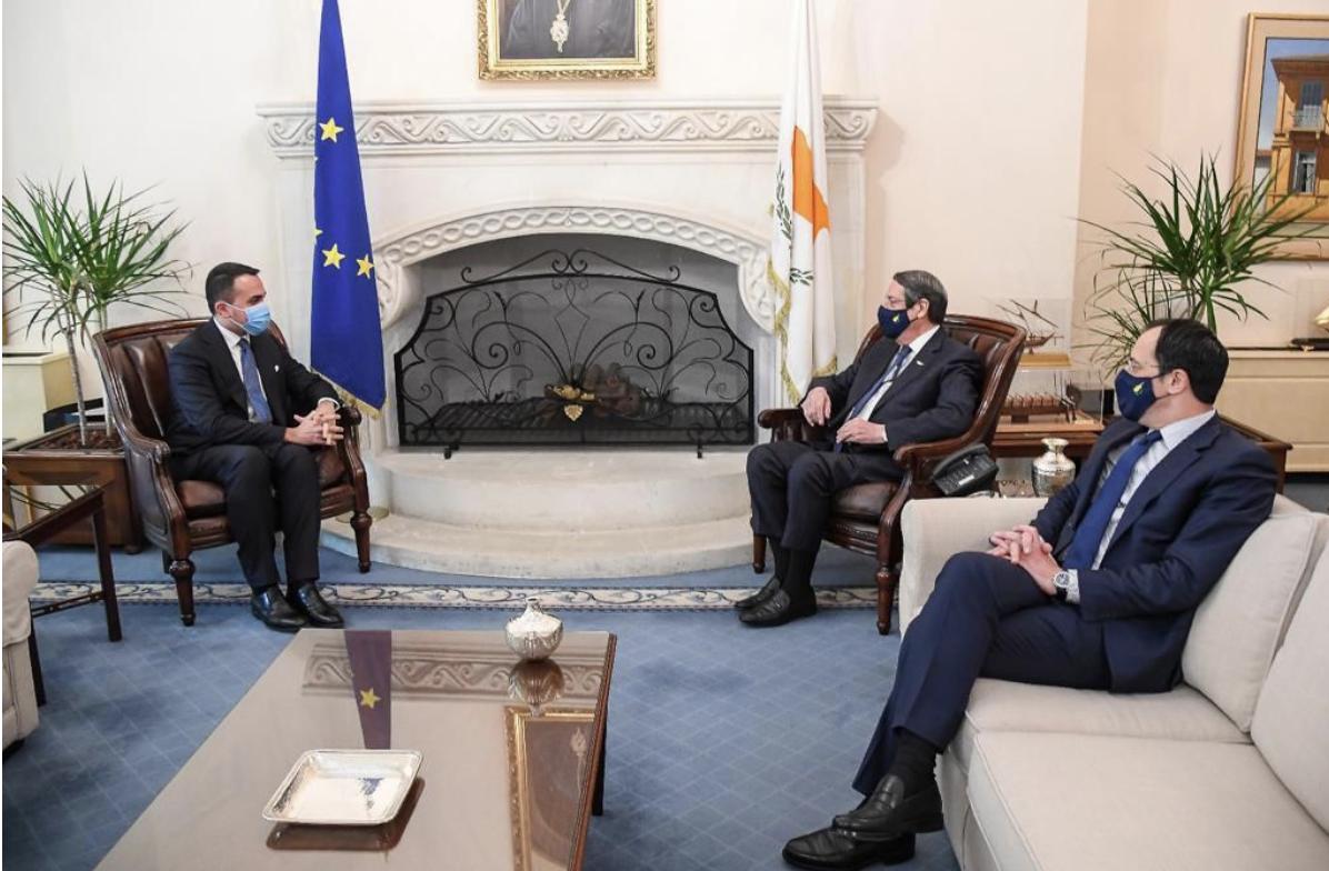Κύπρος: Με Αναστασιάδη, Χριστοδουλίδη και Spehar συναντήθηκε ο Ιταλός Υπουργός Εξωτερικών