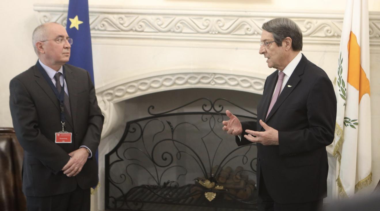 Κύπρος: Παρέλαβε ο Αναστασιάδης την ετήσια έκθεση του Ευρωπαϊκού Ελεγκτικού Συνεδρίου