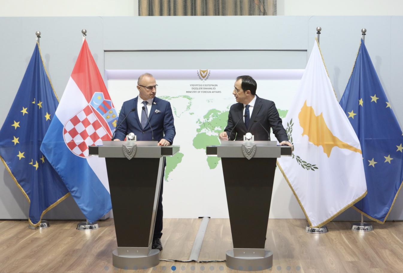Κροατία: Την εμβάθυνση των διμερών σχέσεων και της συνεργασίας συζήτησαν Grlić Radman Χριστοδουλίδης στην Λευκωσία