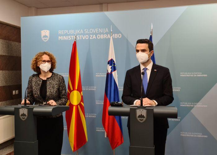 Σλοβενία: Συνάντηση του Υπουργού Άμυνας με την ομόλογό του από τη Βόρεια Μακεδονία