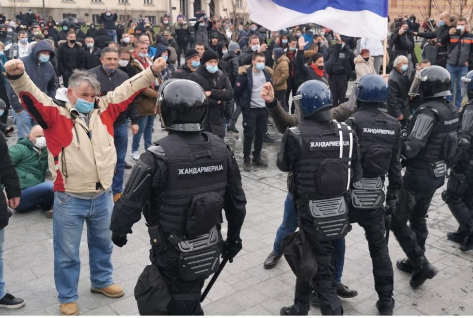 Β-Ε: Διαδηλώσεις στην Μπάνια Λούκα για τα νέα μέτρα κατά της πανδημίας