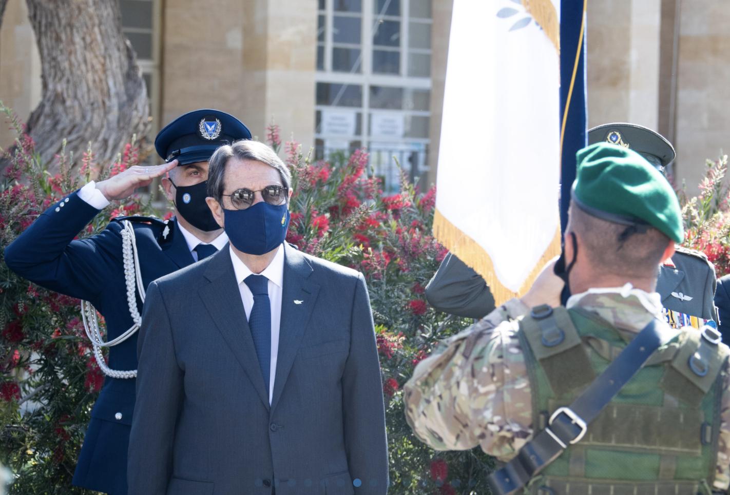 Κύπρος: Ο Πρόεδρος παρέστη στους εορτασμούς για την επέτειο της 1ης Απριλίου
